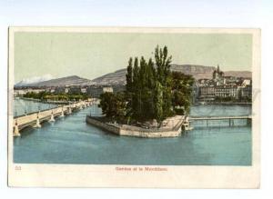 133168 Switzerland GENEVE from MONT-BLANCE Vintage postcard