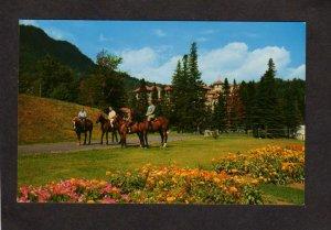 NH Balsams Hotel Dixville Notch New Hampshire Postcard Horses Horseback Riding