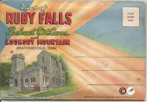 Views of Ruby Falls Lookout Mountain Caves Chattanooga Tennessee Postcard