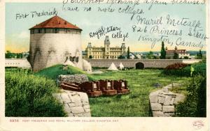 Canada - Ontario, Kingston. Fort Frederick and Royal Military College