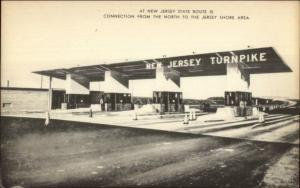 New Jersey State Route 35 Toll Plaza Old Postcard