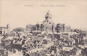 Belgium Brussells Bruxelles Panoramaic Palais De Justice Panorama