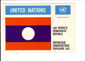 Lao People's Democratic Republic  Flag, United Nations