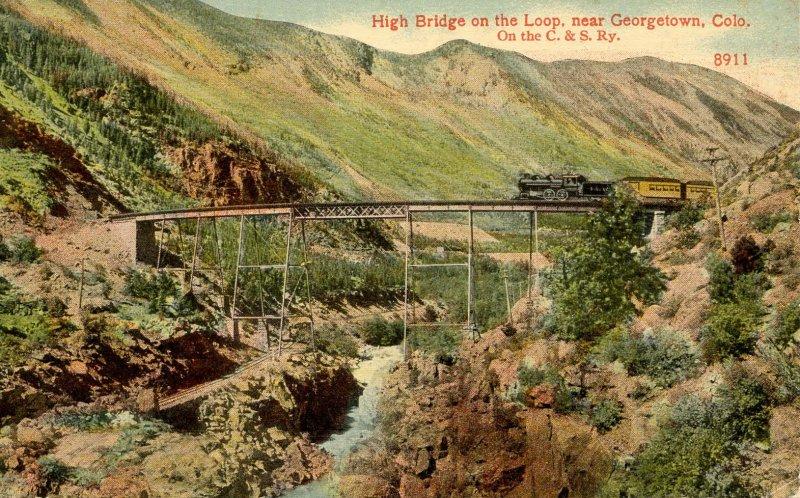 CO - Georgetown. C & S Railway High Bridge on the Loop