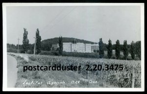 3475 - OKA Quebec 1950s Institute Agricole. Real Photo Postcard by Chene