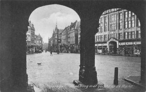 Netherlands Nijmegen Kerkboog Met gezicht op de Markt Postcard