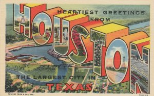 Large Letter HOUSTON Texas , 30-40s