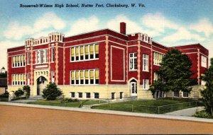West Virginia Clarksburg Roosevelt-Wilson High School Curteich