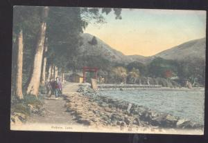 HAKONE LAKE JAPAN VINTAGE JAPANESE COLOR POSTCARD
