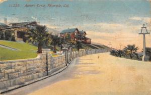 Riverside California~Aurora Drive Mansion Homes on Hillside~1915 Postcard