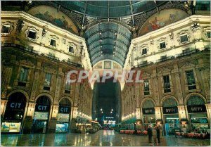 Postcard Modern Milan Galleria Vittorio Emanuele II