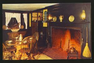 South Sudbury, Mass/MA Postcard,Wayside Inn Dining Room