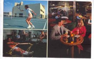 Woman playing tennis at Ocean Dunes Resort & Villas, Myrtle Beach, South Caro...
