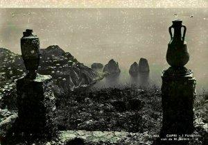 Italy Capri I Faraglioni visti da M. Soiaro Vases Sea Postcard