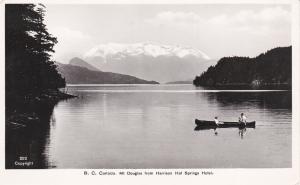 RP: B.C. Canada , 30-40s ; Canoe , Mt Douglas from Harrison Hot Springs