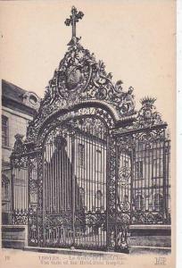 France Troyes La Grille de l'Hotel Dieu