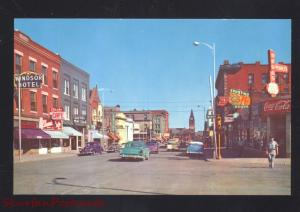 CHEYENNE WYOMING DOWNTOWN STREET SCENE RAILROAD DEPOT CARS OLD POSTCARD