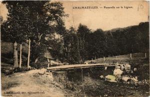 CPA CHALMAZELLES - Passerelle sur le LIGNON (430032)