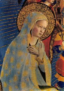 Postcard Art Firenze Museum S.Marco, Detail of the Madonna of Peace, Nova Lux #F