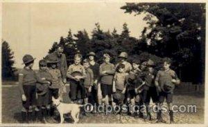 Bolderwood, 1924, Boy & Girl Scout, Scouting, Bolderwood 1924 Unused crease f...