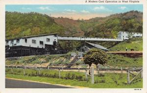 Beckley West Virginia Publisher~A Modern Coal Operation~Postcard 1940s