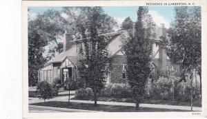 LUMBERTON , North Carolina, 1910s-20s; Residence
