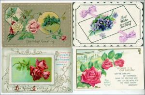 4 - Birthday Cards, Flowers