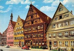 Dinkelsbuehl Marktplatz mit Hotel Deutsches Haus Vintage Cars Auto