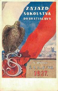 Czech Republic ZA'JAZD SOKOLSTVA DO BRATISLAVY V DNOCH 3 4 5 6 VII 1927 02.21