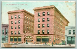 Fargo North Dakota~Gardner Hotel~Architect's Drawing~Not Built Like This~1908 PC
