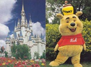 Walt Disney World Pooh Bear Hunny Pot 2x Postcard s