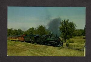 WI Short Line Railroad Train Engine Locomotive North Freedom Wisconsin Postcard