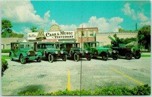 Sarasota, FL Postcard CARS & MUSIC OF YESTERDAY John Ringling Personal Cars