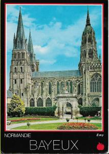 Bayeux, Normandie, France,  a used colour postcard of La cathedrale Notre-Dame