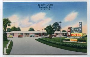 Peach State Motel Brunswick Georgia 1964 postcard