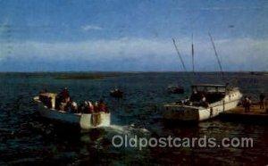 Chathan, Cape Cod, Mass., Massachusetts, USA Fishing 1957 very light corner w...