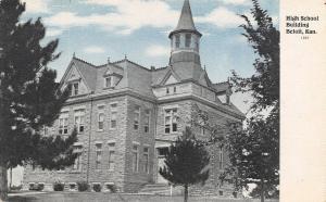 Beloit Kansas~High School Building~Round Tower~Blue Sky 1907 Postcard