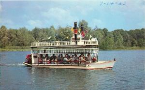 Buck Lake Indiana~Folk on Little Show Boat~Mississippi Show Boat Replica 1963 PC