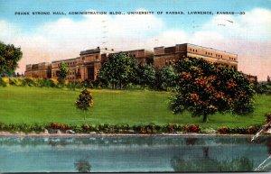 Kansas Lawrence Frank Strong Hall Administration Building University Of Kansa...