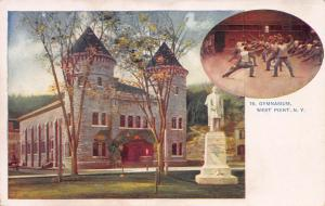 Gymnasium, West Point, New York, Very Early Postcard, Unused