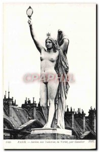 Old Postcard Paris Tuileries Garden The Truth Cavelier