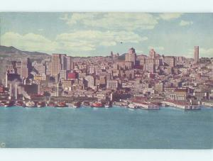 Unused Linen PANORAMIC VIEW San Francisco California CA hp4020