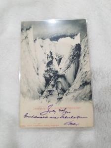 Antique Postcard entitled Uebergang beim Grindelwaldgletscher