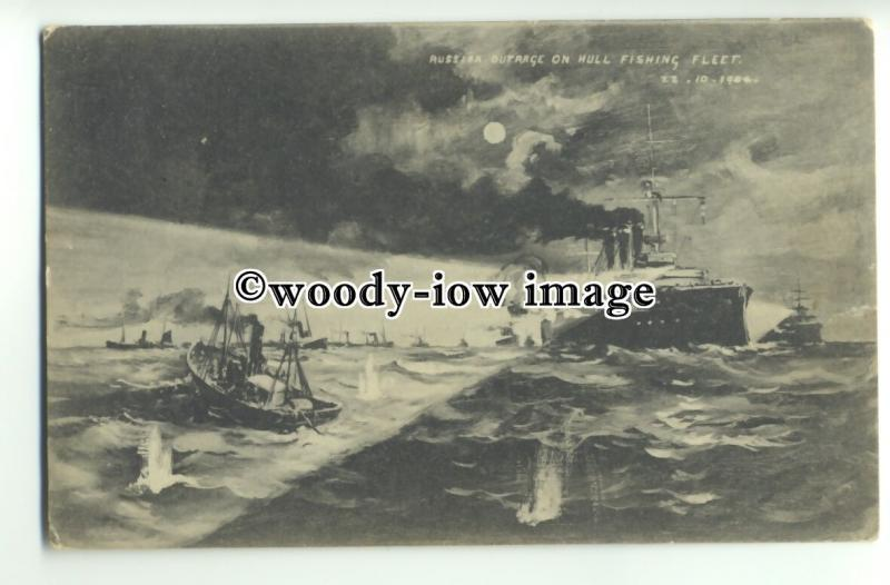 na2727 - Russian Outrage on Hull Fishing Fleet - postcard