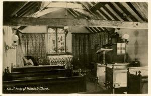 UK - England, Cumbria. Wastdale Church Interior   *RPPC
