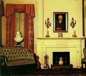 Huntsville Alabama AL Burritt Museum Formal Parlor Vtg Chrome Postcard