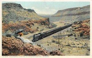 California Limited Train, Crozier Canyon, Arizona Railroad Vintage Postcard