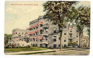 Weldon Hotel, Greenfield, Massachusetts, PU-1911