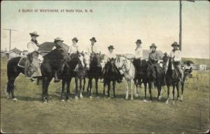 Nara Visa NM Cowboys & Cowgirls c1910 Used Postcard jrf