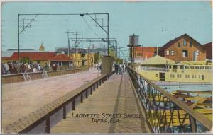 TAMPA FL - LAFAYETTE STREET BRIDGE 1910s view / PRIMITIVE